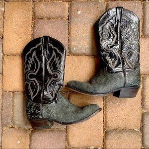 Vintage Tony Lama 6250 Black/Gray Cowboy Boots 9D